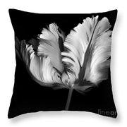 Monocrhome Parrot Tulip Throw Pillow