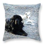 Monogamy In Monochrome Throw Pillow
