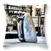 Monopoly Iron Statue In Philadelphia Throw Pillow