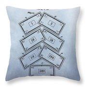 Monopoly Money Patent Throw Pillow