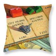 Monopoly On City Island Avenue Throw Pillow