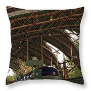 Monorail Depot Disneyland 01 Throw Pillow