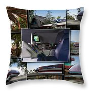 Monorail Disneyland Collage Throw Pillow
