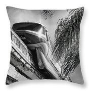 Monorail Throw Pillow