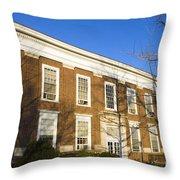 Monroe Hall University Of Virginia Throw Pillow