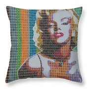 Monroe In Stamps Throw Pillow