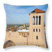 Monroe Street Abbey Throw Pillow