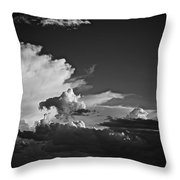 Monsoon Clouds At Sunset Throw Pillow