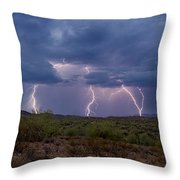 Monsoon Madness Strikes  Throw Pillow