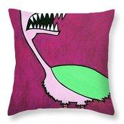 Monster Bird Throw Pillow