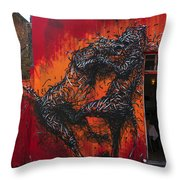 Monster Brawl Throw Pillow