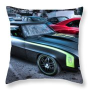 Monster Camaro Throw Pillow