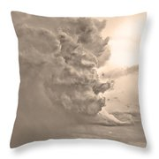 Monster Cloud Sepia Country Throw Pillow