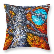 Monster Tree Throw Pillow