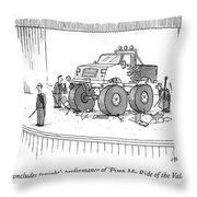 Monster-truck Crushes Members Of String Octet Throw Pillow