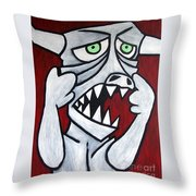 Monsters Afaid Of Monsters Throw Pillow