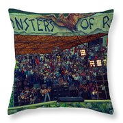 Monsters Of Rock Stage While A C D C Started Their Set - July 1979 Throw Pillow
