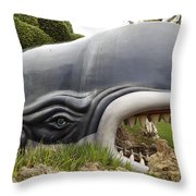 Monstro The Whale At Disneyland Side View Throw Pillow