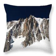 Mont Blanc Massif Throw Pillow