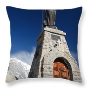 Mont Chetif With Small Chapel Throw Pillow