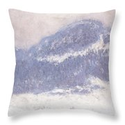 Mont Kolsaas Throw Pillow by Claude Monet
