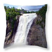 Mont Morency Falls Throw Pillow