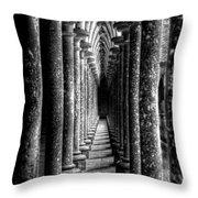 Mont St Michel Pillars Throw Pillow