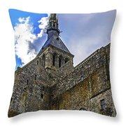 Mont St Michel Tower Throw Pillow