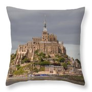 Mont St Michel Throw Pillow