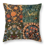 Montage Of Morris Designs Throw Pillow