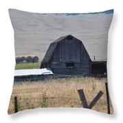 Montana Barn Throw Pillow