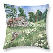Montana Cabin Throw Pillow