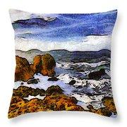Montana Da Oro San Luis Obispo State Park Throw Pillow