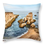 Montana De Oro Panorama Throw Pillow