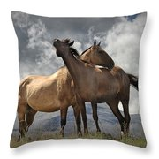 Montana Horses Throw Pillow