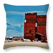 Montana Mountaintown Throw Pillow