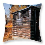 Montana Outhouse 03 Throw Pillow