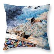 Montana Rocks Throw Pillow
