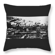 Montana Smelting, 1880s Throw Pillow