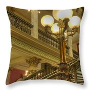 Montana State Capitol Throw Pillow