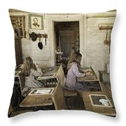 Montana's Oldest Standing Schoolhouse Throw Pillow