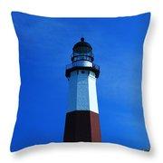 Montauk Lighthouse Throw Pillow