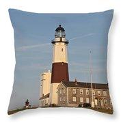 Montauk Point Lighthouse Throw Pillow