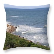 Montauk Pt. Long Island Throw Pillow