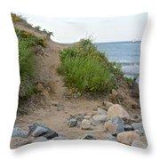 Montauk's Rocky Point Throw Pillow
