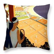 Monte-carlo - Travel Poster For Plm - 1930 Throw Pillow