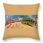 Monterey And Cable Car Bus Throw Pillow