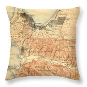Monterey And Carmel Valley  Monterey Peninsula California  1912 Throw Pillow