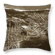 Aerial Of Monterey And Pacific Grove  California Oct. 25 1934 Throw Pillow
