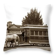 Monterey And Pacific Grove Street Railway Circa 1895 Throw Pillow